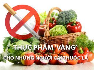 Trái cây và rau củ - thực phẩm 'vàng' cho những người cai thuốc lá